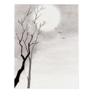 Carte Postale Sumi-e japonais vintage classique de paysage de