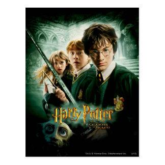 Carte Postale Tir de groupe de ratière de Harry Potter Ron
