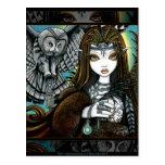 Carte postale tribale de Fae de tatouage de déesse