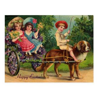 Carte postale victorienne de cru de Pâques de défi