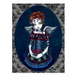 Carte postale victorienne gothique d'ange d'Annabe
