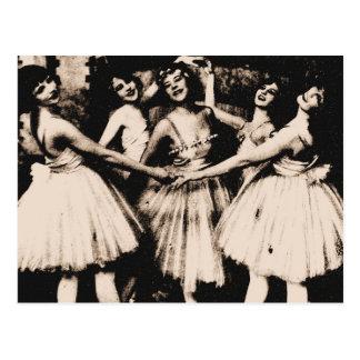 Carte postale vintage de ballet