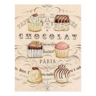 Carte postale vintage de Chocolat…