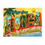 Carte postale vintage de la Floride