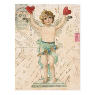 Carte postale vintage de Valentine d'ange
