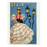Carte postale vintage de voyage de l'ESPAGNE