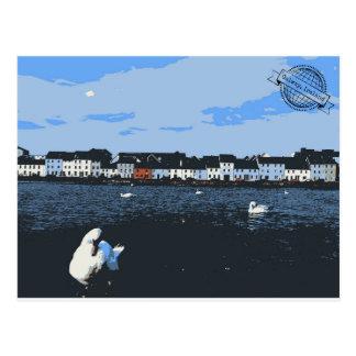 Carte postale vintage de voyage de l'Irlande