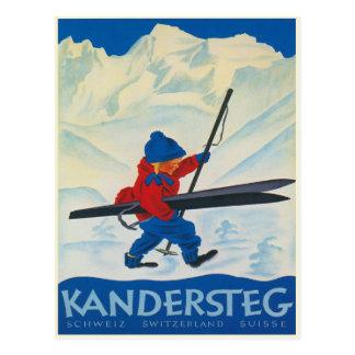 Carte postale vintage des Alpes suisses