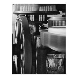 Carte Postale Vitesses de moulin de vent en noir et blanc