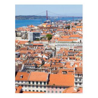 Carte Postale Vue aérienne de Lisbonne, Portugal