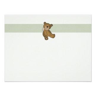 Carte pour notes plat de Merci d ours de bébé Bristol