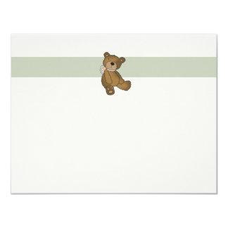 Carte pour notes plat de Merci d'ours de bébé Bristol