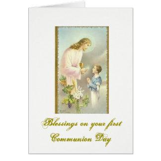 Carte Première sainte communion - félicitations -