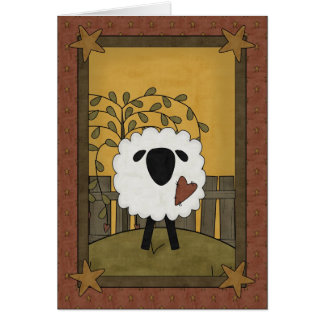 Carte Prière pour les premiers moutons de communion