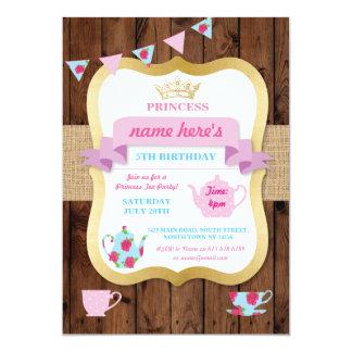 Carte Princesse Crown Pot Alice Birthday d'invitation de