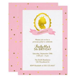 Carte Princesse rose Cameo Girl Birthday