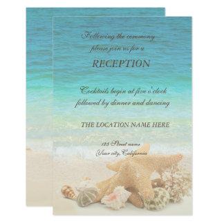Carte Réception de coquillages de mariage de plage