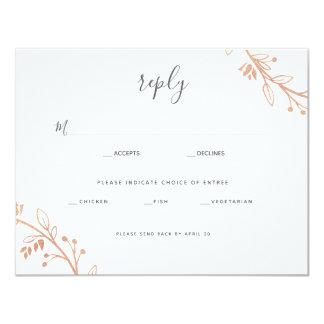 Carte Réponse moderne Card2 de mariage de guirlande