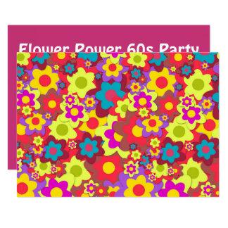 Carte Rétro thème de partie de la hippie 60s
