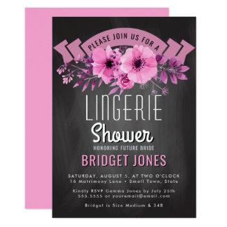 Carte Rose nuptiale de tableau de douche de lingerie