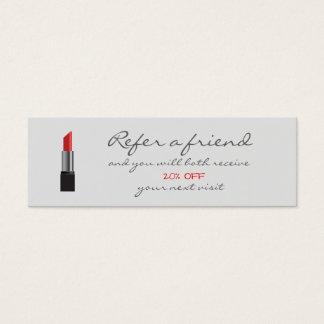 Carte rouge de référence de rouge à lèvres