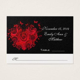 Carte rouge et noire d'endroit de Tableau de