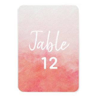 Carte Rougissent les nombres roses de Tableau de mariage