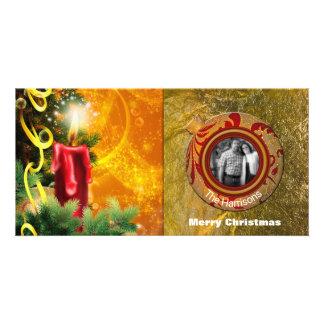 Carte Salutation de vacances de photo de Joyeux Noël