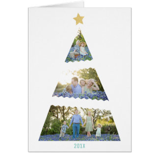 Carte Salutation moderne de vacances d'arbre de Noël de