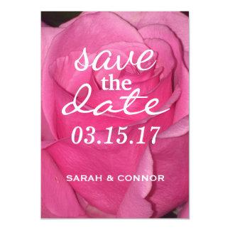 Carte SAUVEZ le rose de rose de DATE