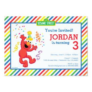 Carte Sesame Street   Elmo - anniversaire d'arc-en-ciel