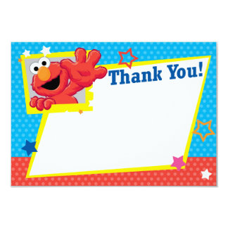 Carte Sesame Street   Elmo - point de polka et Merci