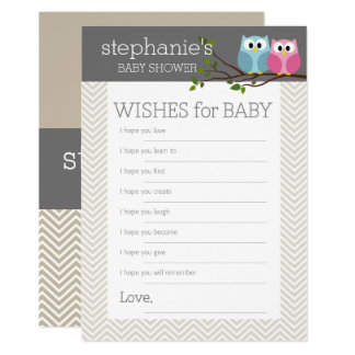 Carte Souhaits de jeu de baby shower