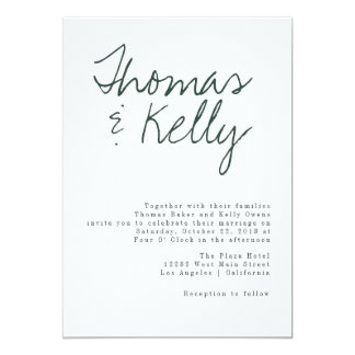 Carte Suite moderne de mariage de calligraphie