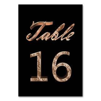 Carte Tableau noir chic élégant numéro 16 de partie d'or
