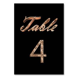 Carte Tableau noir chic élégant numéro 4 de partie d'or