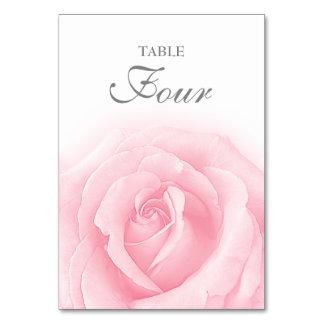 Carte Tableau Romance numéro 4 de mariage de rose de