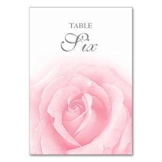 Carte Tableau Romance numéro 6 de mariage de rose de