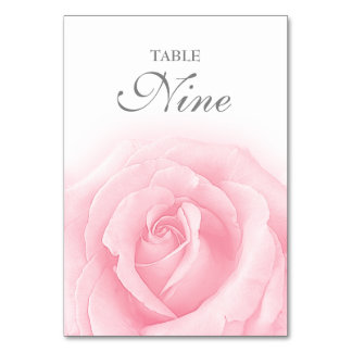 Carte Tableau Romance numéro 9 de mariage de rose de