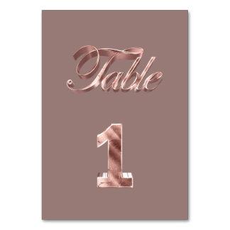 Carte Tableau rose chic élégant numéro 1 d'invités de