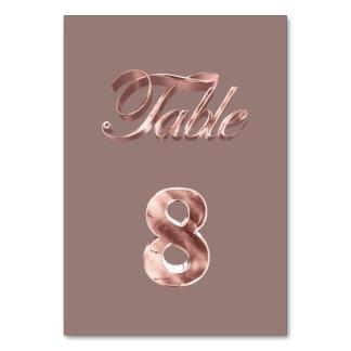Carte Tableau rose chic élégant numéro 8 d'invités de