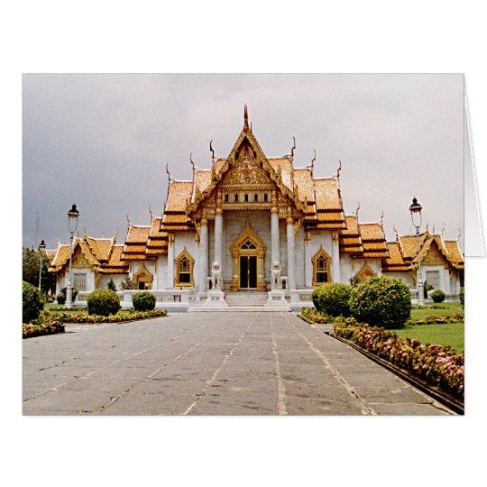 Carte Temple de marbre d'or avec la citation de Bouddha