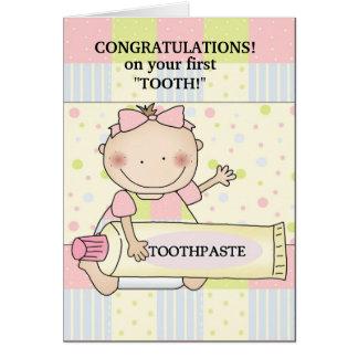 Carte Timbre de bébé de félicitations