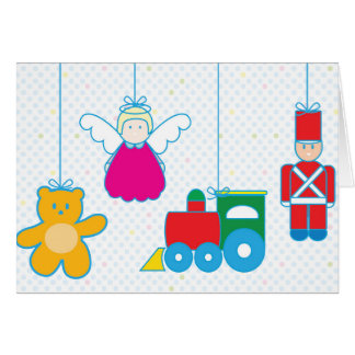 Carte Toys hanging Holidays card.