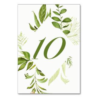 Carte verte sauvage du numéro 10 de Tableau de