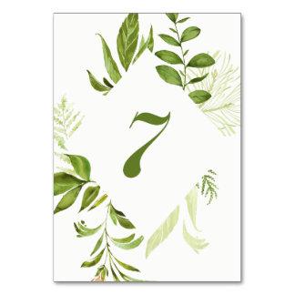 Carte verte sauvage du numéro 7 de Tableau de