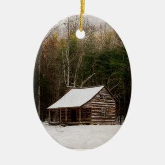Carter schirmt Kabinen-Winter-Verzierung Cades Ovales Keramik Ornament
