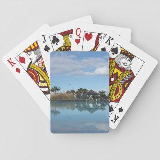 Cartes À Jouer Cartes de jeu de vue de Poolside de Ténérife