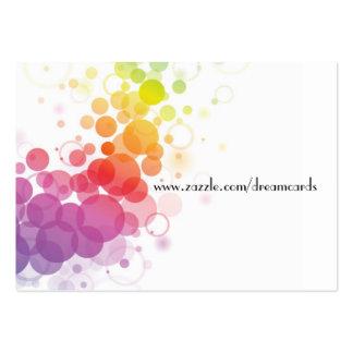 Cartes abstraites de profil de concepteur carte de visite grand format