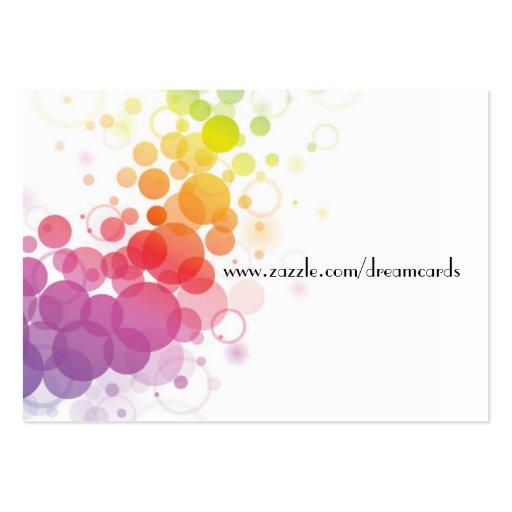 Cartes abstraites de profil de concepteur cartes de visite professionnelles